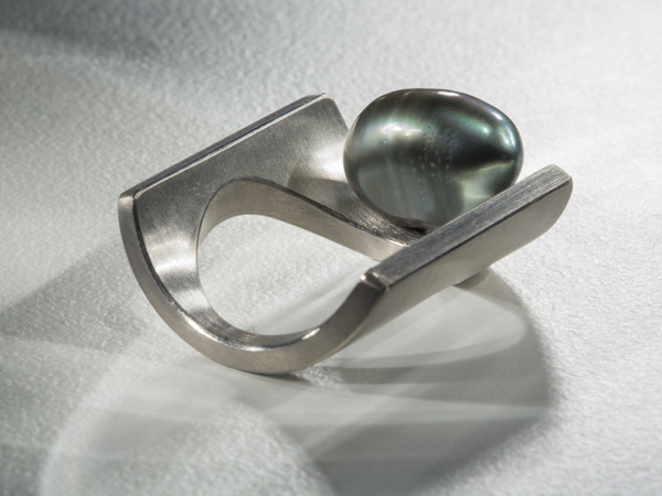Ring aus Palladium mit Tahiti-Perle